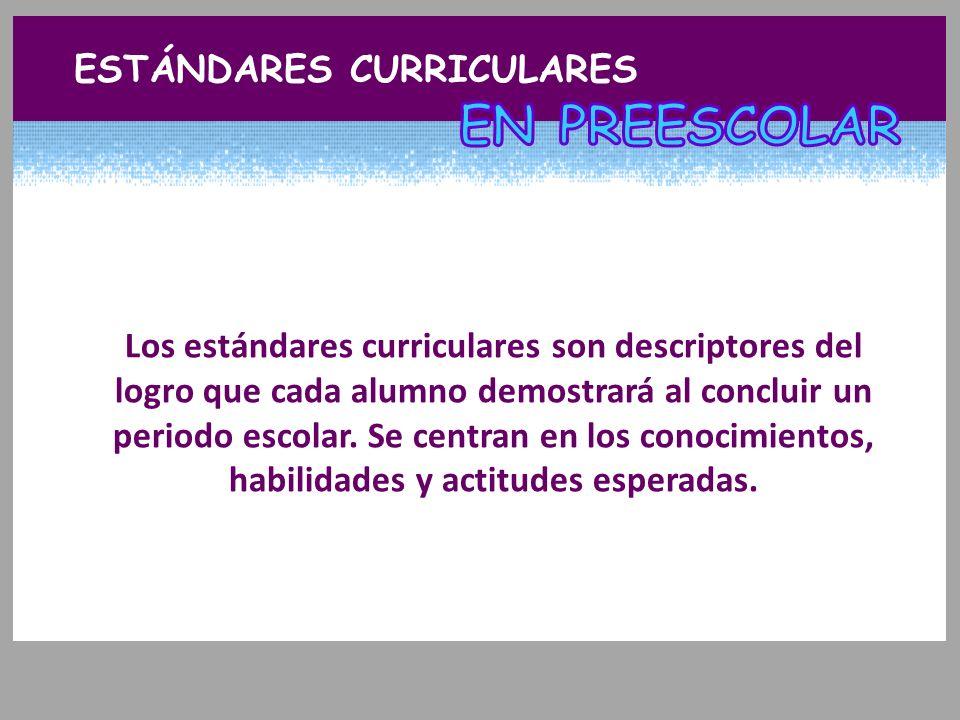 En preescolar est ndares curriculares ppt video online for Estandares para preescolar