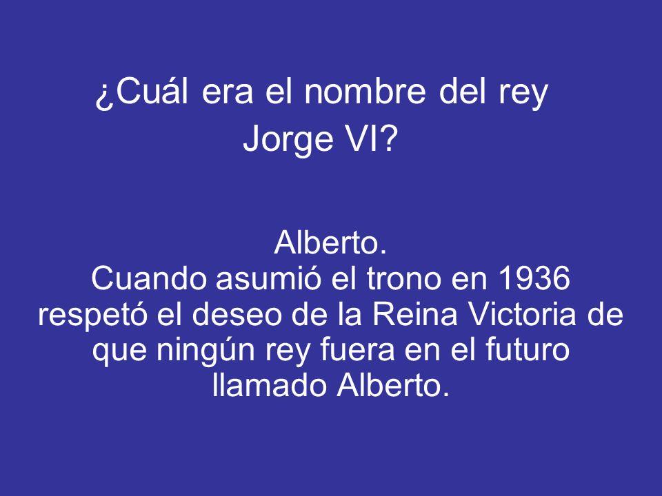 ¿Cuál era el nombre del rey Jorge VI