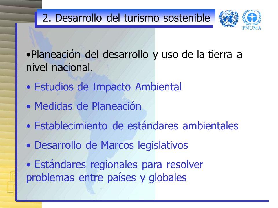 2. Desarrollo del turismo sostenible