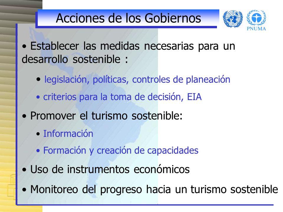 Acciones de los Gobiernos