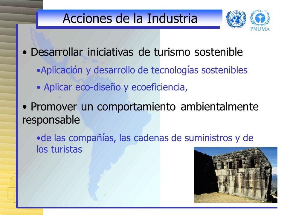 Acciones de la Industria