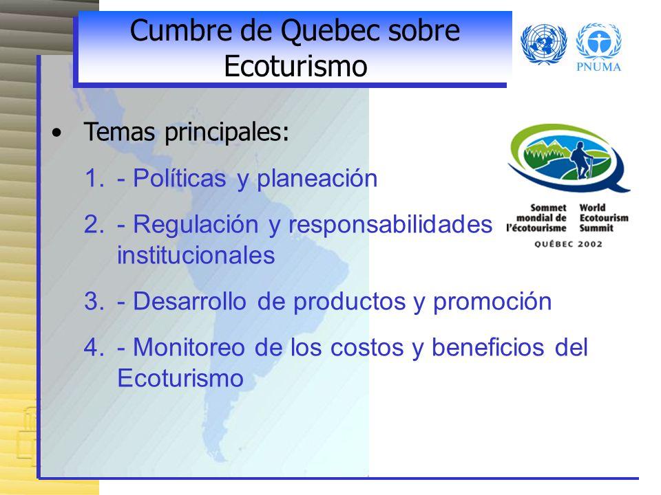 Cumbre de Quebec sobre Ecoturismo