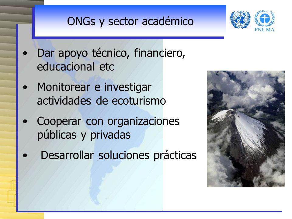 ONGs y sector académico