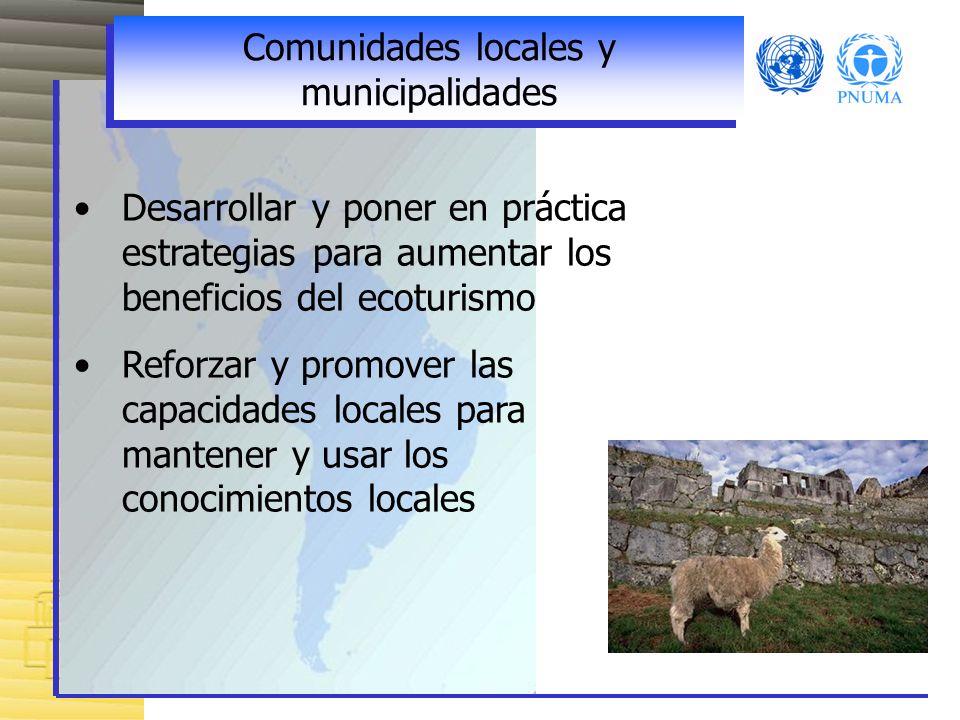 Comunidades locales y municipalidades