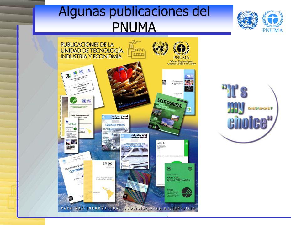 Algunas publicaciones del PNUMA