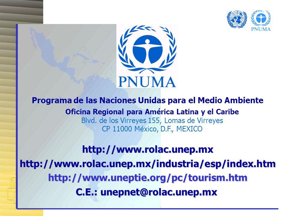 C.E.: unepnet@rolac.unep.mx