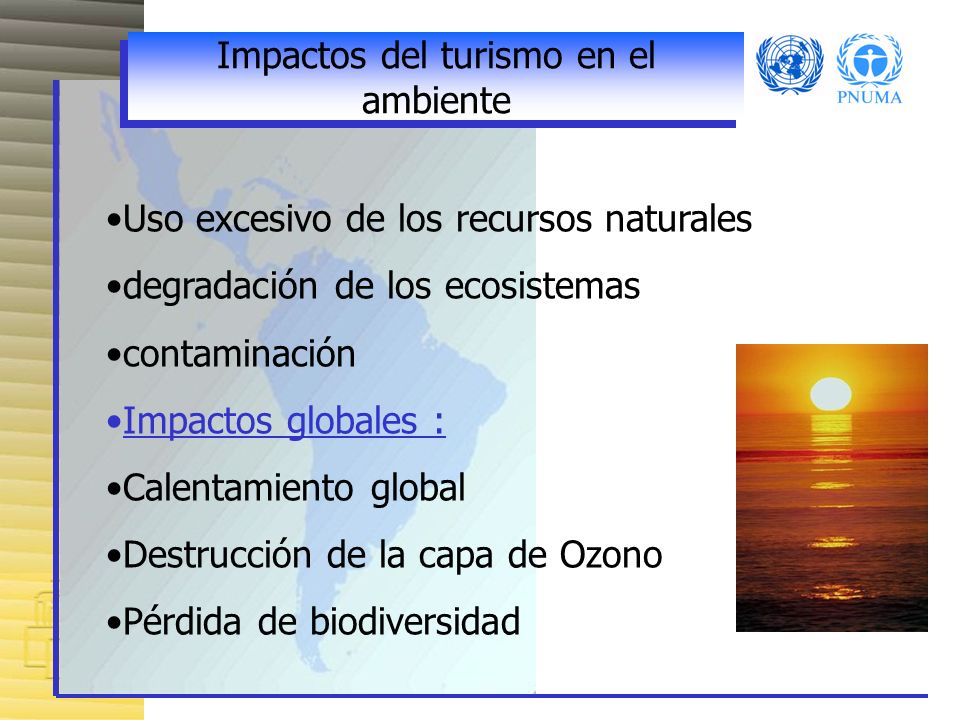 Impactos del turismo en el ambiente