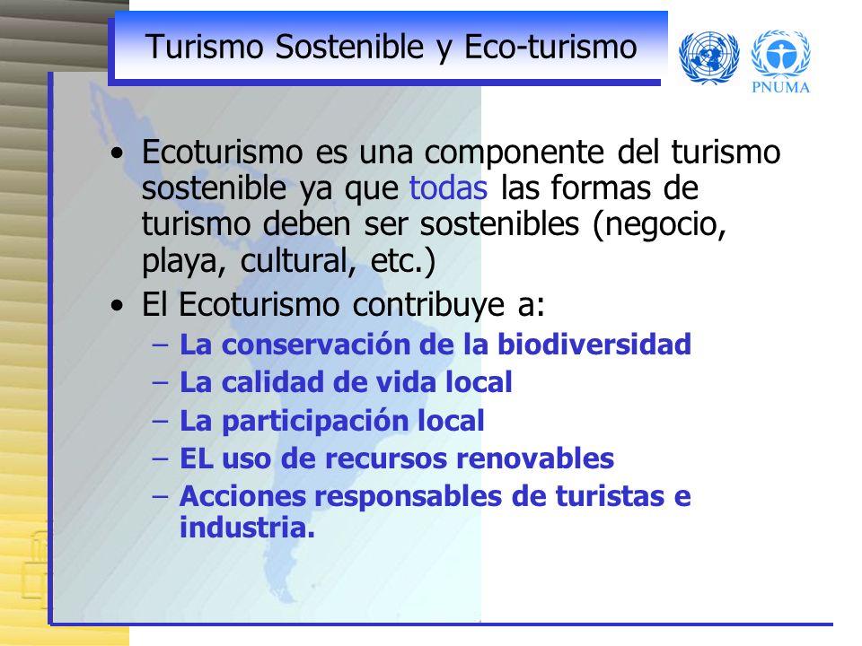 Turismo Sostenible y Eco-turismo