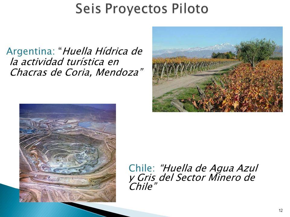 Seis Proyectos Piloto Argentina: Huella Hídrica de