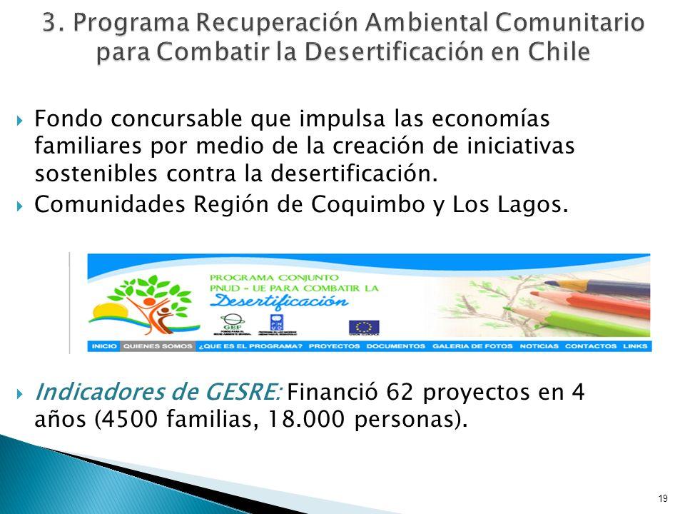 3. Programa Recuperación Ambiental Comunitario para Combatir la Desertificación en Chile