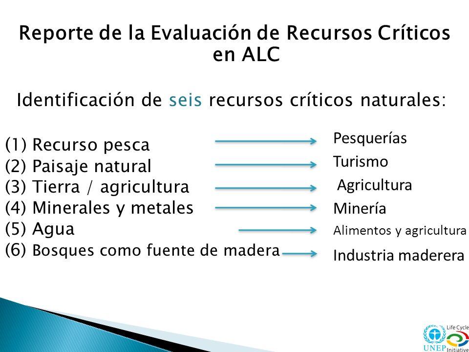 Reporte de la Evaluación de Recursos Críticos en ALC