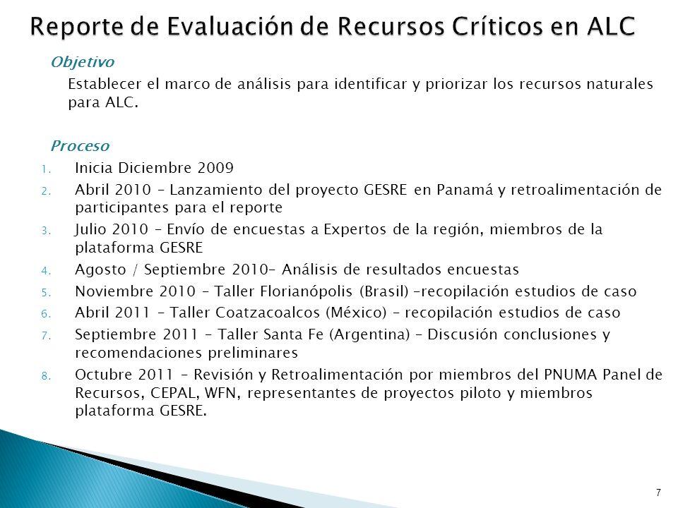Reporte de Evaluación de Recursos Críticos en ALC