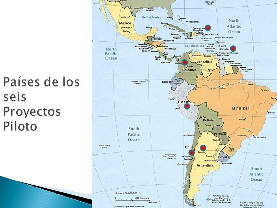 Países de los seis Proyectos Piloto