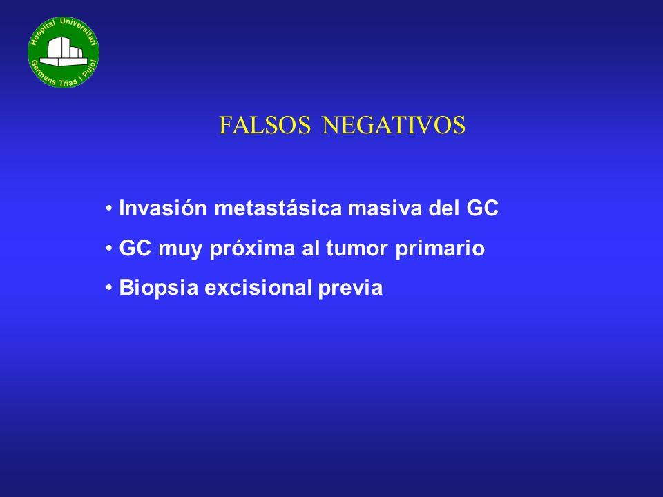 FALSOS NEGATIVOS Invasión metastásica masiva del GC