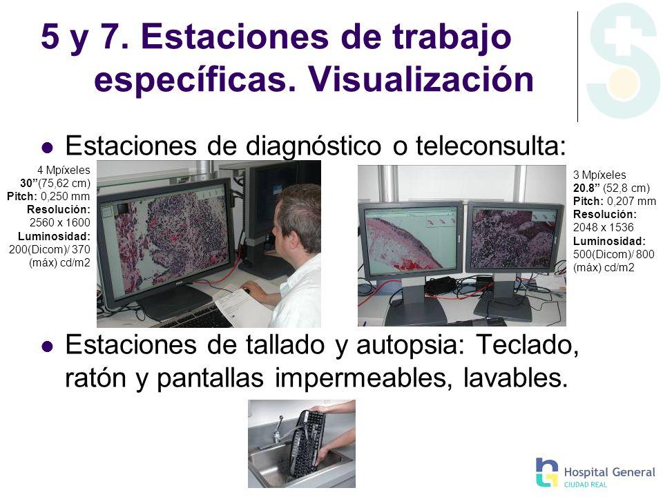 5 y 7. Estaciones de trabajo específicas. Visualización