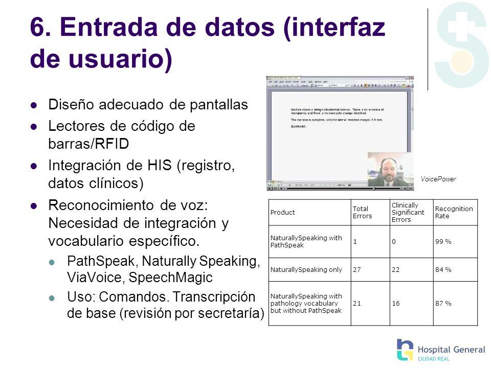 6. Entrada de datos (interfaz de usuario)