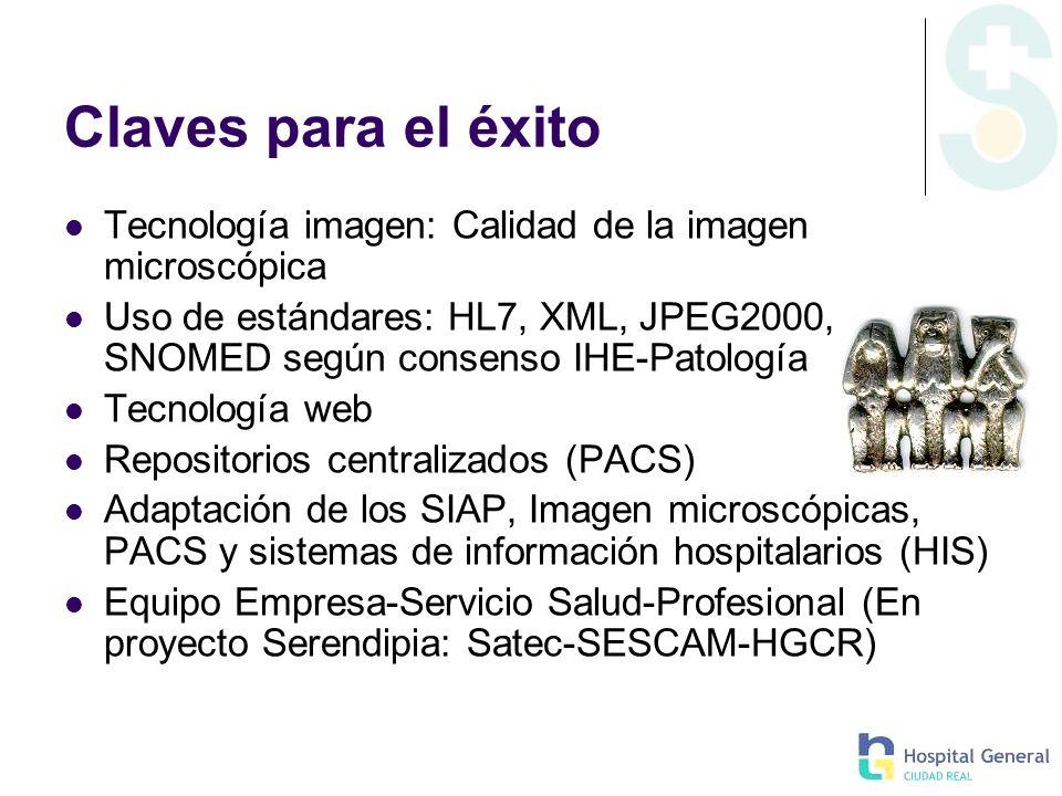 Claves para el éxito Tecnología imagen: Calidad de la imagen microscópica.