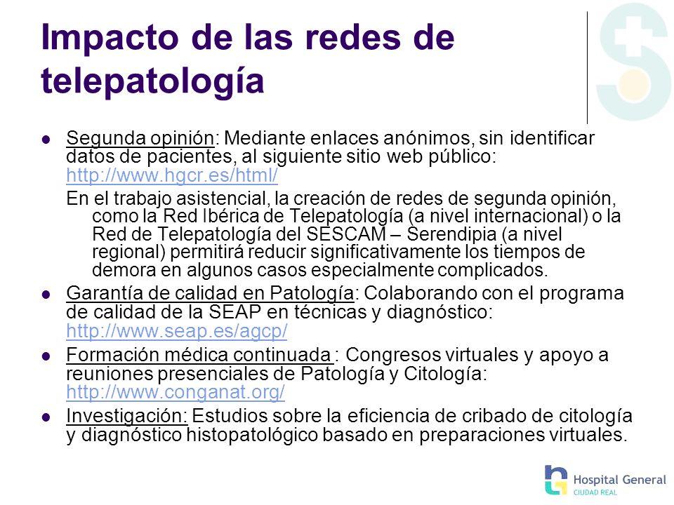 Impacto de las redes de telepatología