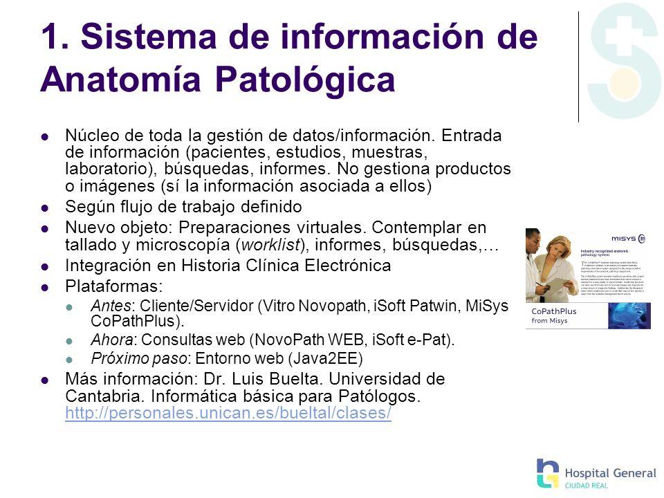 1. Sistema de información de Anatomía Patológica