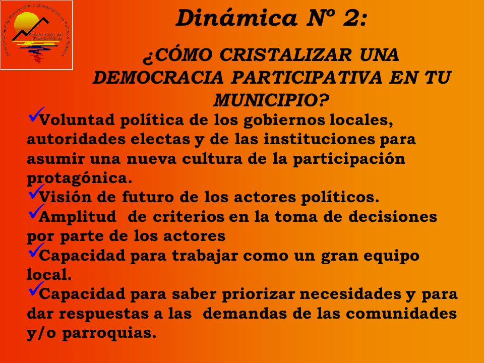 ¿CÓMO CRISTALIZAR UNA DEMOCRACIA PARTICIPATIVA EN TU MUNICIPIO