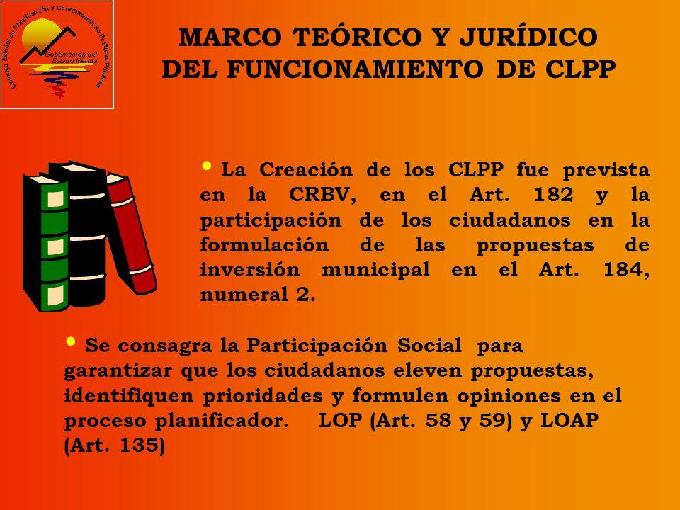 MARCO TEÓRICO Y JURÍDICO DEL FUNCIONAMIENTO DE CLPP