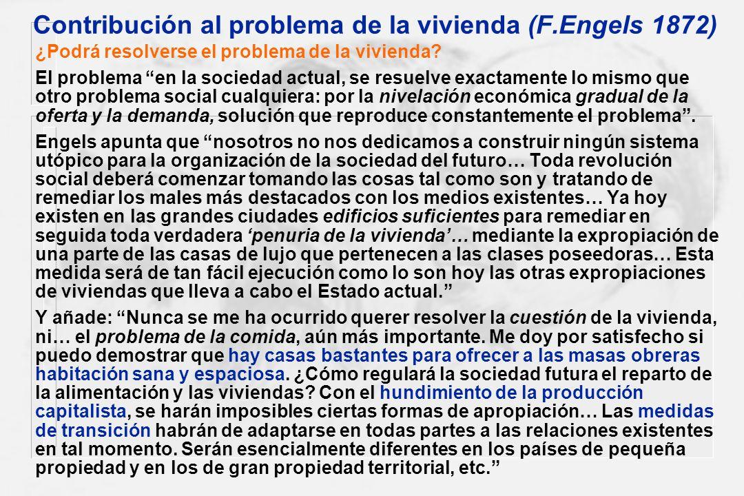 Contribución al problema de la vivienda (F.Engels 1872)