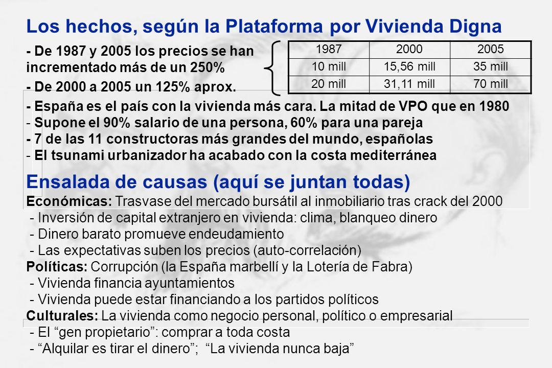 Los hechos, según la Plataforma por Vivienda Digna