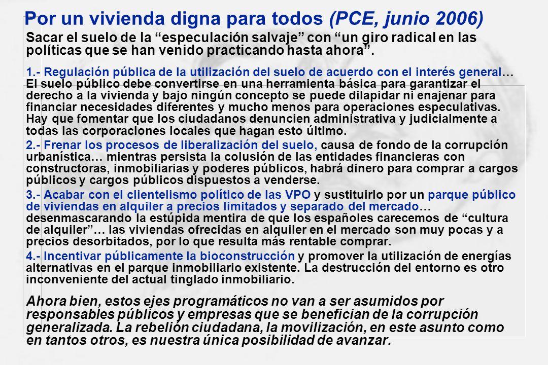 Por un vivienda digna para todos (PCE, junio 2006)