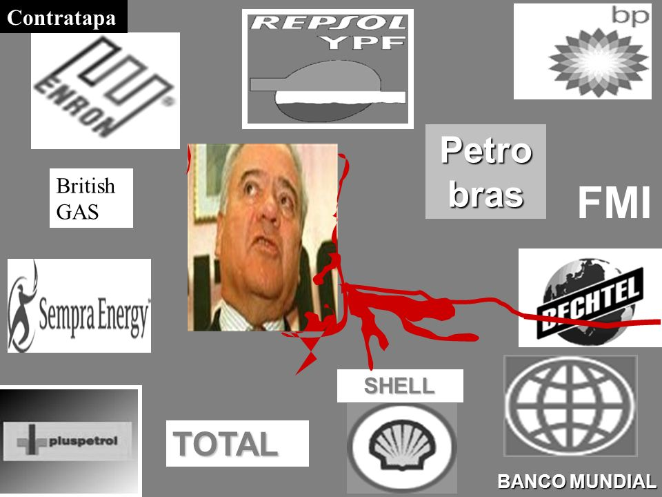 Contratapa Petrobras British GAS FMI SHELL TOTAL BANCO MUNDIAL