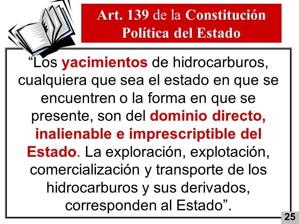 Art. 139 de la Constitución Política del Estado