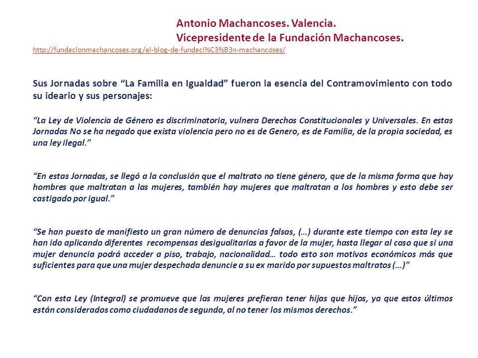Vicepresidente de la Fundación Machancoses.