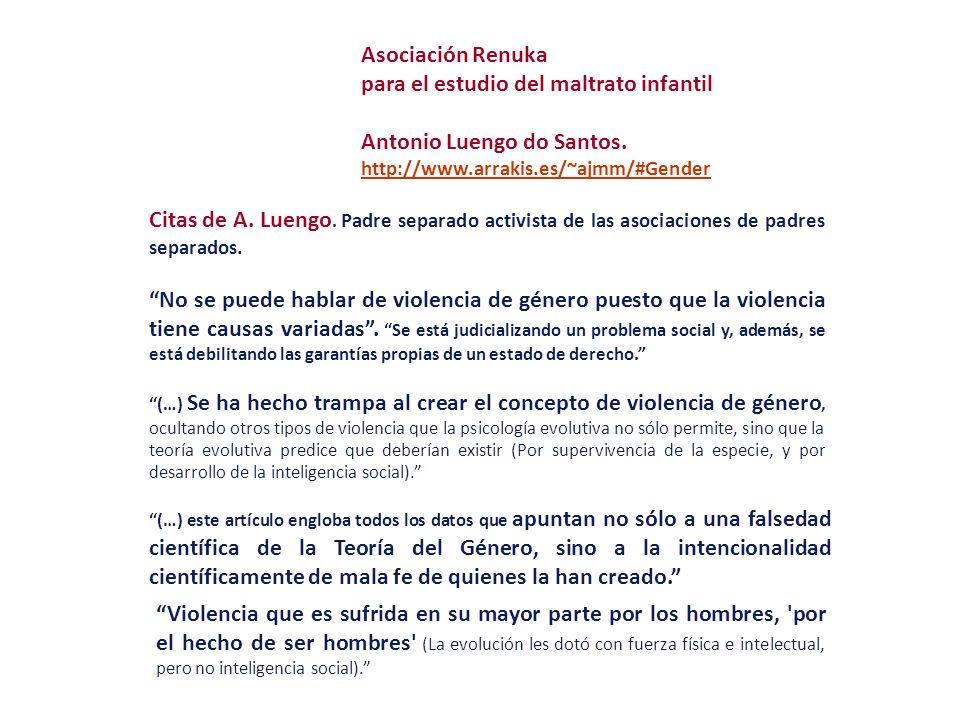 para el estudio del maltrato infantil Antonio Luengo do Santos.