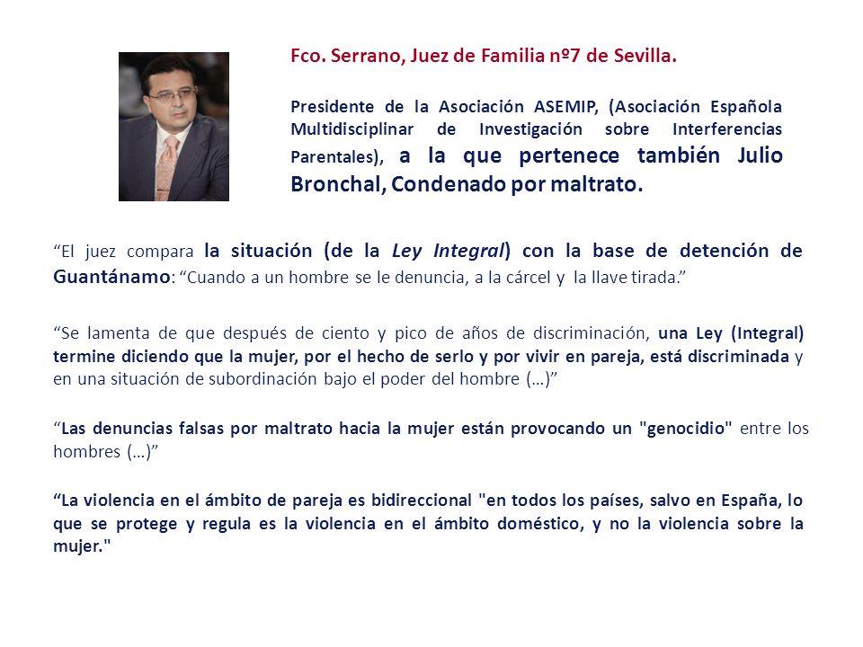Fco. Serrano, Juez de Familia nº7 de Sevilla.