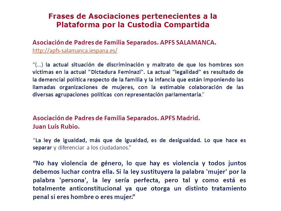 Asociación de Padres de Familia Separados. APFS SALAMANCA.