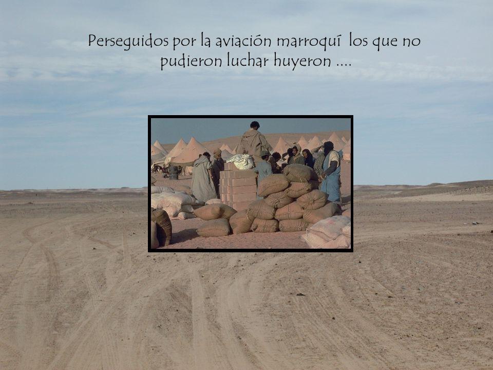 Perseguidos por la aviación marroquí los que no