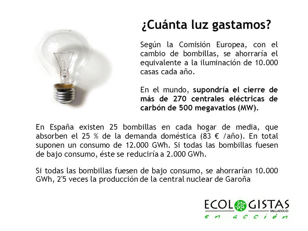 ¿Cuánta luz gastamos Según la Comisión Europea, con el cambio de bombillas, se ahorraría el equivalente a la iluminación de 10.000 casas cada año.