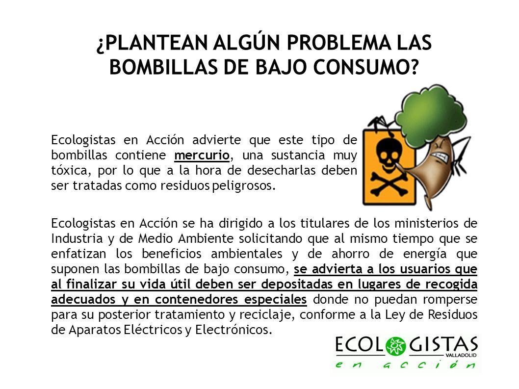 ¿PLANTEAN ALGÚN PROBLEMA LAS BOMBILLAS DE BAJO CONSUMO