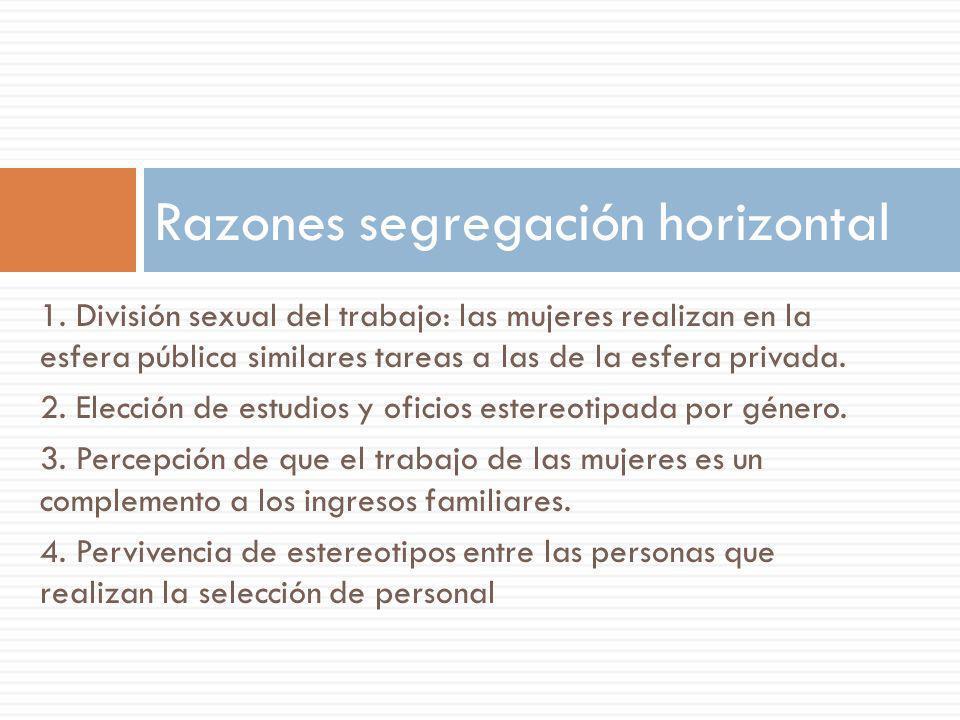 Razones segregación horizontal