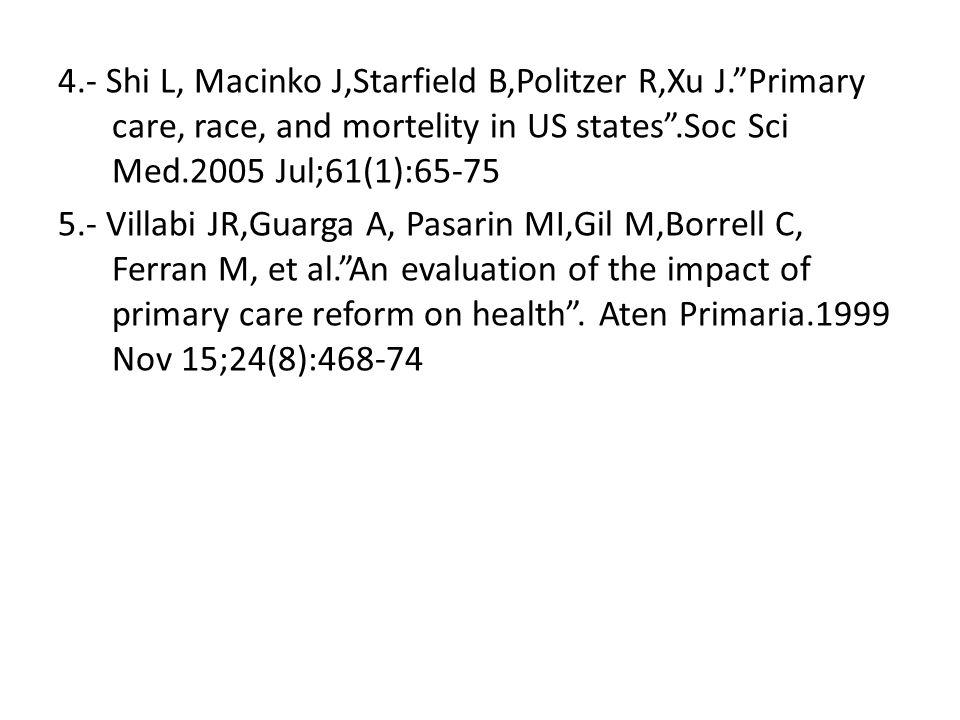 4. - Shi L, Macinko J,Starfield B,Politzer R,Xu J