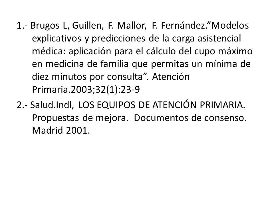 1. - Brugos L, Guillen, F. Mallor, F. Fernández