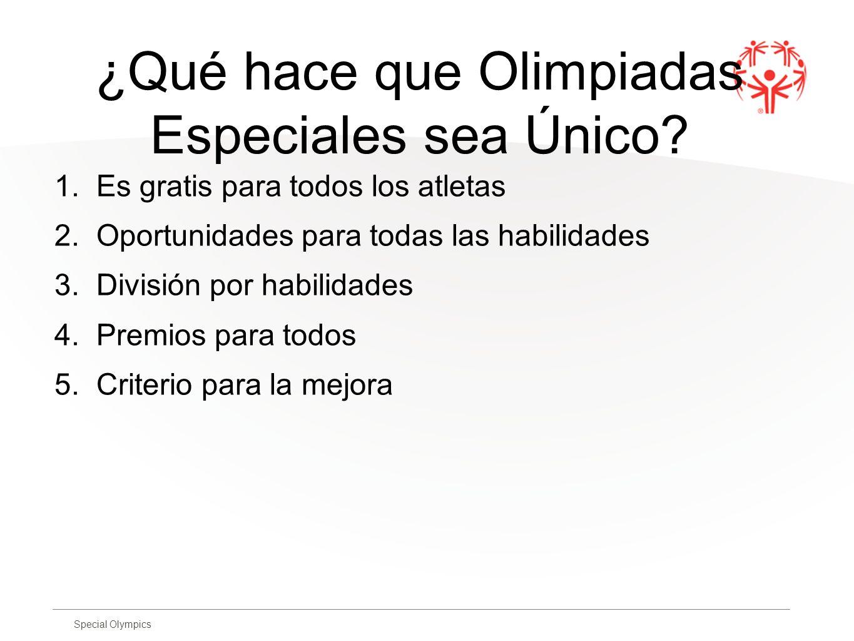 ¿Qué hace que Olimpiadas Especiales sea Único