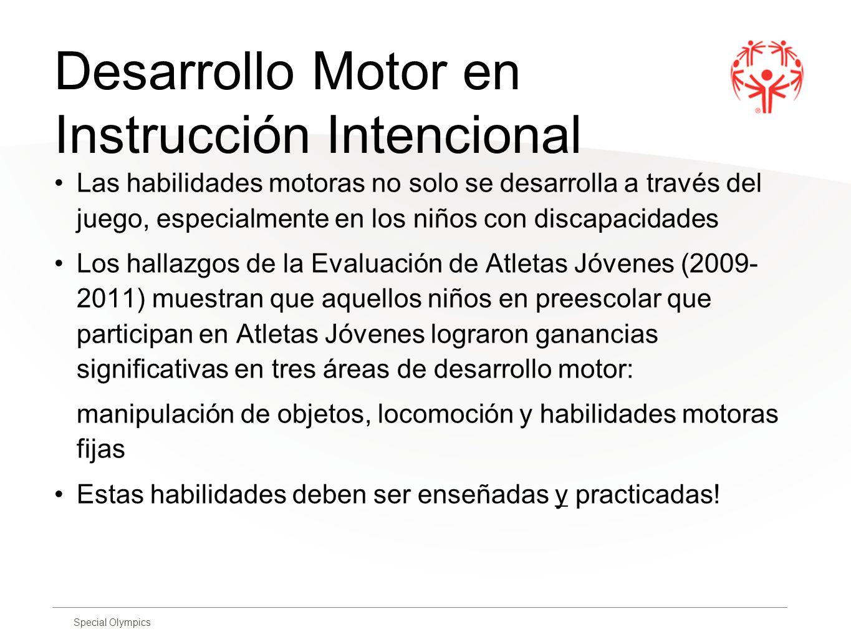 Desarrollo Motor en Instrucción Intencional