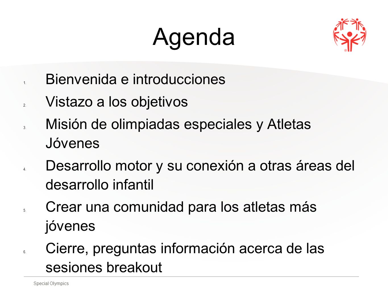 Agenda Bienvenida e introducciones Vistazo a los objetivos