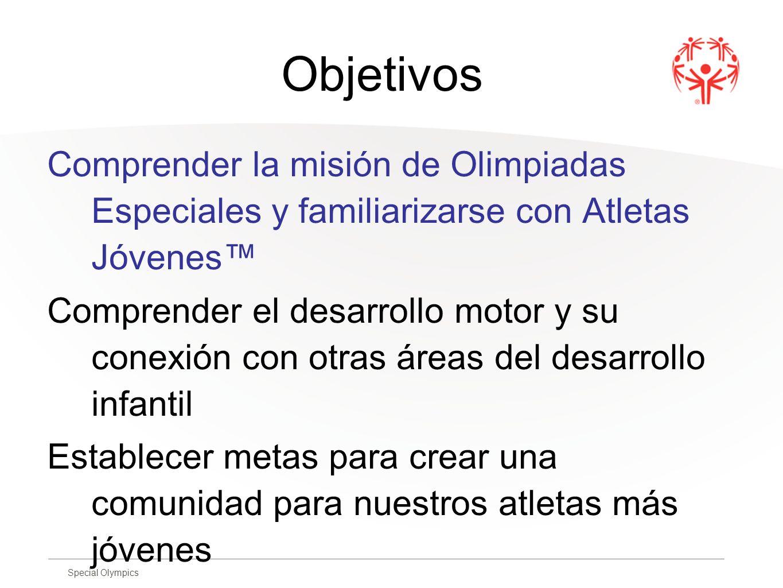 Objetivos Comprender la misión de Olimpiadas Especiales y familiarizarse con Atletas Jóvenes™