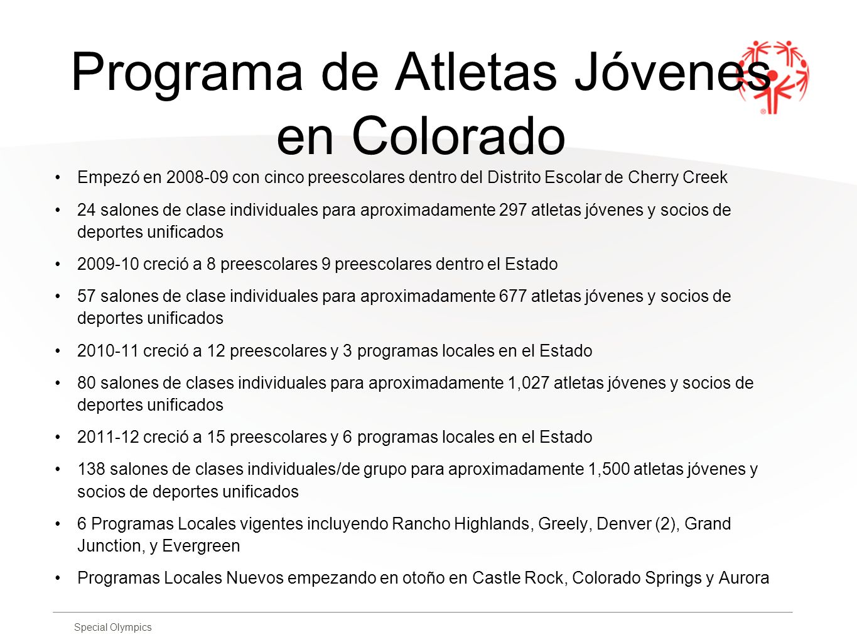 Programa de Atletas Jóvenes en Colorado