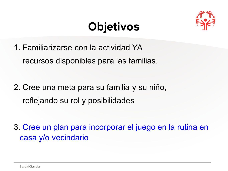 Objetivos 1. Familiarizarse con la actividad YA