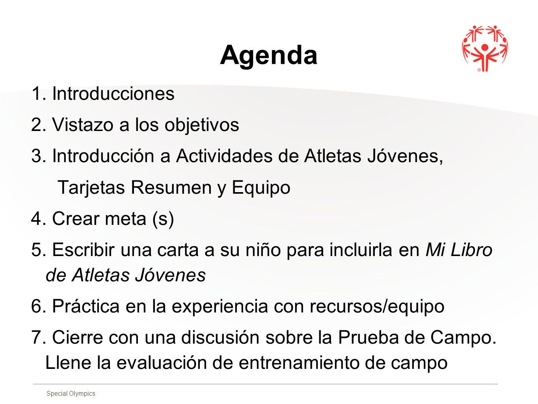 Agenda 1. Introducciones 2. Vistazo a los objetivos