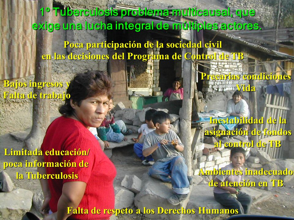 1º Tuberculosis problema multicausal, que exige una lucha integral de múltiples actores.