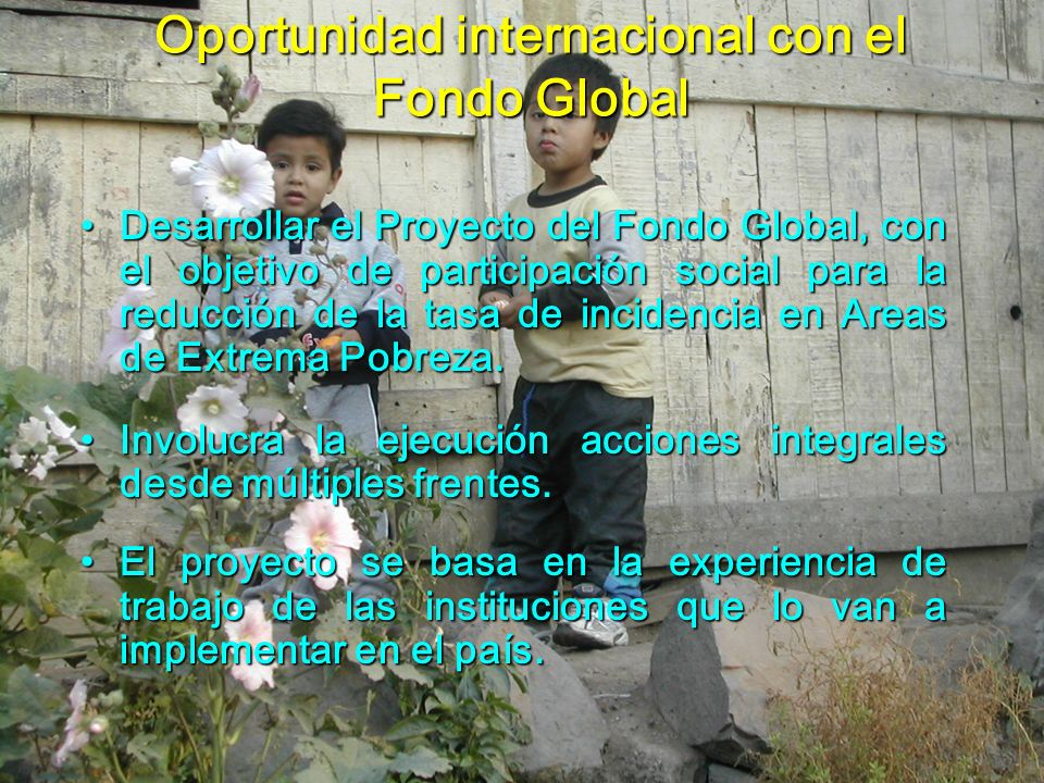 Oportunidad internacional con el Fondo Global
