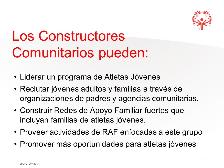 Los Constructores Comunitarios pueden: